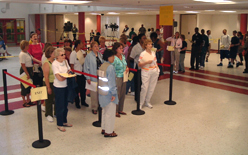 A mass vaccination drill in Silver Spring, Md.