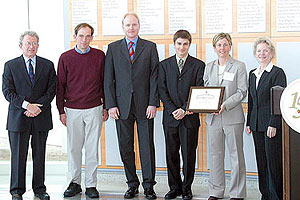 The Advanced Magneto-Optical Systems (AMOS) team won in the Alumni and Graduate category.