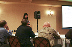 Tia Gao presents at the SEED competition.