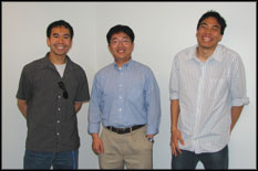 Edward Dechaumphai (ME), Prof. Li, and Jon Chung (BioE).
