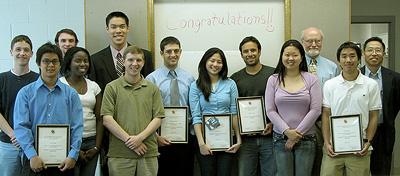 Left to right: Paul Rueger, Yi-En Huang, Peter DeMuth, Adedayo