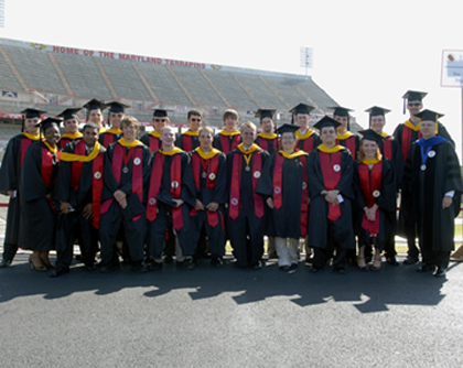 Professor Milke with the Spring 2007 BS Graduates.