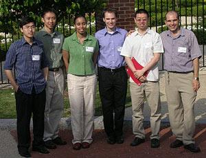 Left to right: Yao Li, Steve Tjoa, Nicole Nelson, David Sander, Peng Xu, and Mohamed Fahmi
