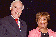 Debora Chandler was presented with an award by President C.D. Mote at this year's Service Award Banquet.