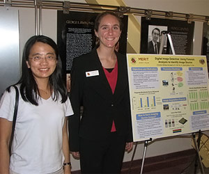 First place MERIT presenter Christine McKay (right) with her research advisor Prof. Min Wu (left).