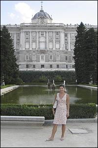 BioE Graduate student Marina Chumakov in Spain.
