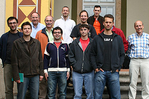 MSE/IREAP Professor Gottlieb Oehrlein (3rd from left) with his research group from the Max-Planck Institut für Plasmaphysik.