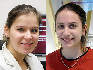Left: Marina Chumakov. Right: Christina Kyrtsos.