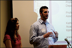 Erin Flanagan (B.S. '06, left) and Chandler McCann (B.S. '05, right) currently work for Micron Technology, Inc.