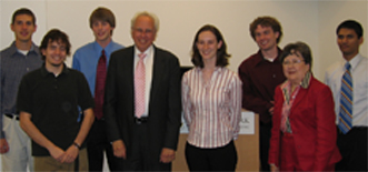 (left to right) D. Gers, M. Gentry, R. Robinson, Dr. Anderson, M. Kirk, R. Murphy, Mrs. Anderson, P. Albuquerque; not pictured: M. Levashov
