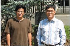 Graduate student Pingfeng Wang & Professor Youn