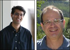 Rajeev Barua (L) and Uzi Vishkin.