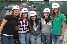 AOE members visit a local Clark Construction site.