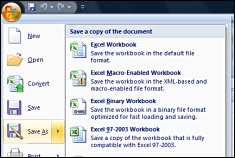 Office Excel 2007 Screenshot