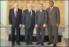Former Dean George Dieter, former Interim Dean Herbert Rabin, Provost Nariman Farvardin and Dean Darryll Pines.