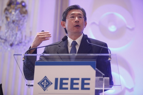 Prof. K.J. Ray Liu at the IEEE 125th anniversary event. Photo by Gary He, AP. Used by permission.