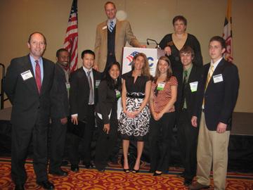 Dr. Miroslaw Skibniewski with the ABC scholarship winners.