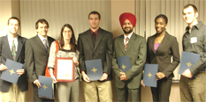 From Left to Right: N. D'Amore, M. Gentry, B. McNerney, J. Ramsey, H. Singh, L. Ahuré, and R. Vocke<br />