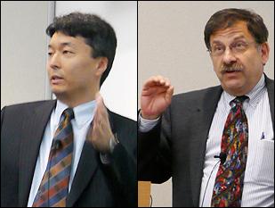 Left: Ichiro Takeuchi. Right: Gary Rubloff.
