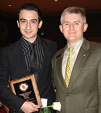 ECE Department's Chair's Award winner Ali Faghih with ECE Chairman Patrick O'Shea.
