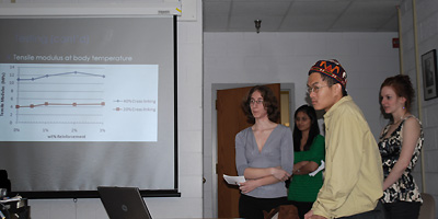 The 2009 Capstone team members present their research.