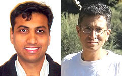 Prof. Ankur Srivastava (left) and Prof. Prakash Narayan (right)