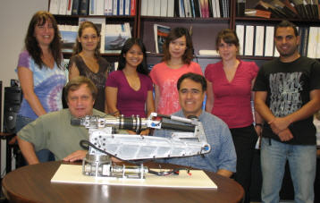 Pictured (front) Nikolay Tikhonov, Professor Bilal Ayyub. (back) Clara Popescu, Laurette Martelet, Anh Bui, Cheyu Chang, Melissa Quinet, Elias Zeilah
