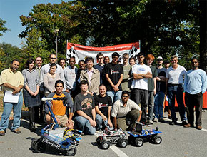Photo from the 2008 Autonomous Robot Speedway Competition competition.