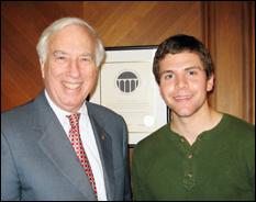 UM President C.D. Mote, Jr., and Dylan Rebois.