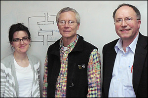 Left to right: Dr. Evelina Vogli, Professor James F. Drake, and Professor Gottlieb Oehrlein.