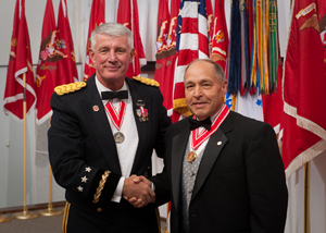 Dr. Ed Link with Lieutenant General Robert L. Van Antwerp
