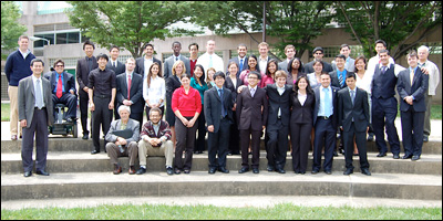 The Class of 2010 with faculty, mentors and staff.