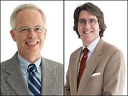 Left: Professor Philip Bryan. Right: Associate Professor Edward Eisenstein.