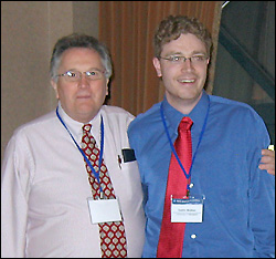 Left: Professor Calabrese. Right: Justin Walker.