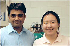 Left: Assistant Professor Ganesh Sriram. Right: Emily Lin.