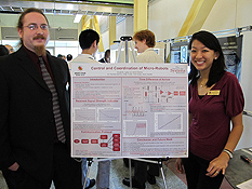 Clark School ECE students Lydia Lei and Christopher Perkins won the MERIT-BIEN Best Overall Project Award.