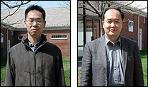 ISR Visiting Scientists from Toshiba: Ko Miyauchi (L) and Tomoaki Kubo (R)
