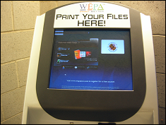 WEPA Kiosk in Martin Hall
