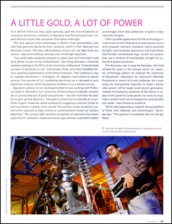 MSE graduate student Parag Banerjee was featured in an issue of Sierra magazine.