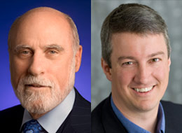 Vint Cerf (left) and Martin Roesch (right).