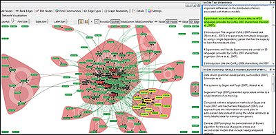 Users can analyze the network of citations between papers and much more with Action Science Explorer.