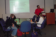 Ken Isman, B.S. '86, P.E., F.S.F.P.E., leads the Pump Day Supplemental Seminar in the FPE