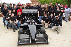 2012 Terps Racing Team with University President, Dr. Wallace Loh, Dr. Darryll Pines, Dean of the A. James Clark School of Engineering and Dr. B. Balachandran, Chair of the Department of Mechanical Engineering
