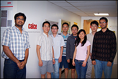 CALCE students from left to right: Arvind Vasan, Edwin Sutrisno, Wei He, Moon-Hwan Chang, Jing Tian, Yan Ning, Hyunseok Oh, Surya Kunche