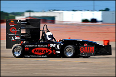 University of Maryland's Formula SAE vehicle in FSAE West competition.