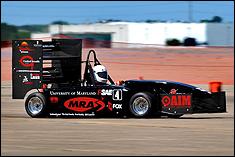 University of Maryland's Formula SAE vehicle in FSAE West competition.