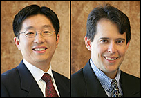 Dr. Teng Li (left) and Dr. Santiago Solares (right)