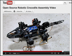 Visit the Maryland Robotics Center's YouTube channel to view the instructional video and download written instructions and CAD files.