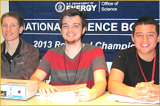 Engineering students judged the final round of the Maryland Regional.
