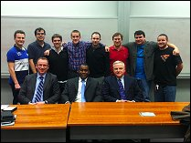 AIAA members with speakers Ray Sealey, David Williams, and Ken Gazzola.